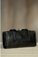 Women's Hobo Nancy Leather Clutch Wallet