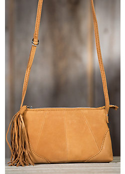 Women's Hobo Darcy Saffron Leather Handbag