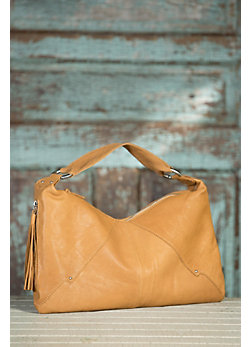 Women's Hobo Paulette Saffron Leather Handbag