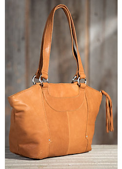 Women's Hobo Patti Saffron Leather Handbag