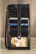 Women's Hobo Kimi Leather Wristlet Wallet