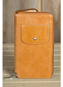 Women's Hobo Tatum Leather Cell Phone Wallet