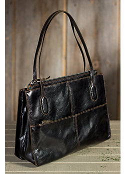 Women's Hobo Friar Leather Handbag