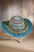 Women's Organic Crocheted Raffia Hat