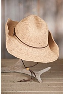 Women's Outback Raffia Hat with Leather Cord