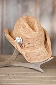 Women's Outback Crocheted Raffia Hat