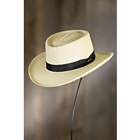 Victorian Men's Hats- Top Hats, Bowler, Gambler Panama Gambler Straw Hat NATURAL Size XLARGE 23.5quot - 23.75quot circumference $125.00 AT vintagedancer.com