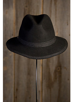 Women's Topstitch Wool Felt Safari Hat