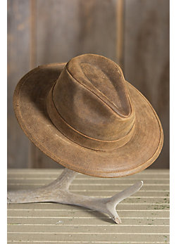 Hickory Stetson Leather Outback Hat
