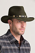 Crushable Outback Felt Tracker Hat