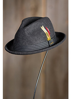 Alden Crushable Wool Fedora Hat
