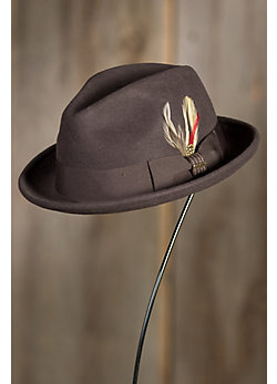 Avoca Crushable Snap Brim Wool Fedora Hat