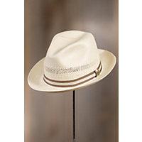 Biltmore Abby Road Straw Panama Hat, IVORY/TAN, Size Large (7 1/4–7 3/8)