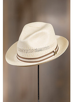 Abby Road Biltmore Straw Fedora Hat