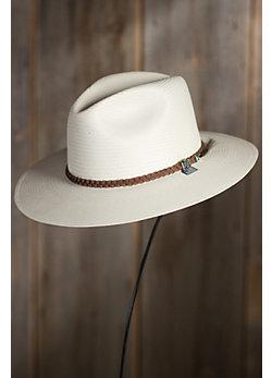 Crossroads Biltmore Straw Fedora Hat