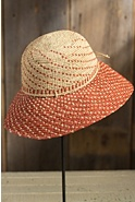 Women's Crocheted Downturn Brim Raffia Hat