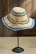Organic Crocheted Wide Brim Raffia Hat