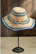 Organic Crocheted Wide Brim Raffia Hat