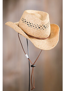 Kids' Raffia Hat with Chinstrap