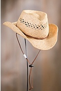 Children's Raffia Hat with Chinstrap