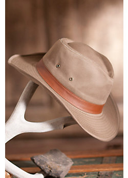 Garment Washed Twill Outback Hat