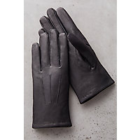Edwardian Men's Accessories Mens Cashmere-Lined Lambskin Leather Gloves BLACK Size XLARGE 10 $79.00 AT vintagedancer.com