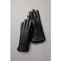 Overland Women's Willow Rabbit Fur-Lined Lambskin Leather Gloves