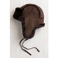 Australian Merino Sheepskin Trapper Hat, CHOCOLATE BROWN