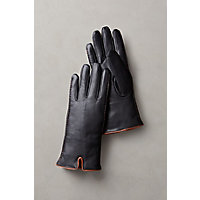 Women's Hollis Shearling-Lined Lambskin Leather Gloves