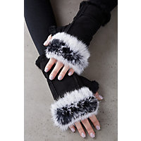 Overland Women's Teak Shearling Fingerless Gloves