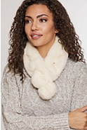 Women's Alpina Rex Rabbit Fur Convertible Headband and Scarf