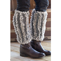 Women's Rabbit Fur Boot Toppers, Chinchilla, Size 1 Sz Western & Country