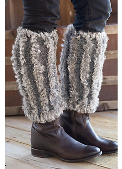 Women's Knitted Rabbit Fur Boot Toppers