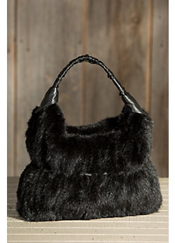 Women's Knit Mink Fur Handbag