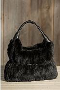 Women's Knit Mink Fur Handbag