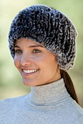 Women's Knitted Rabbit Fur Headband