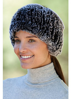 Women's Knitted Rex Rabbit Fur Headband
