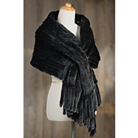 Aviva Knitted Danish Mink Fur Wrap RANCH Size 1 Size $795.00 AT vintagedancer.com