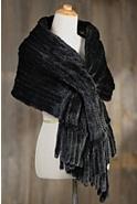 Aviva Knitted Danish Mink Fur Wrap