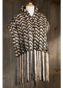 Women's Octavia Knitted Danish Mink Fur Shawl