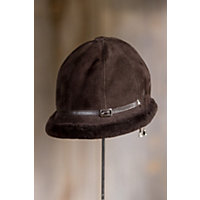 "Women's Elegant Shearling Sheepskin Hat, Santa Fe, Size Medium (7""- 7 1 / 8"") Western & Country"