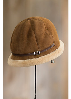 Women's Elegant Shearling Sheepskin Hat