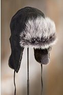 Sueded Shearling Sheepskin Trapper Hat