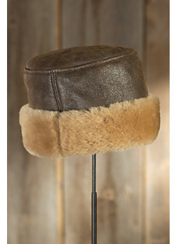 Russian Pillbox Shearling Sheepskin Hat