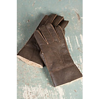 Men's Rugged Shearling Sheepskin Gloves, Rugged Castano, Size Xxlarge Western & Country