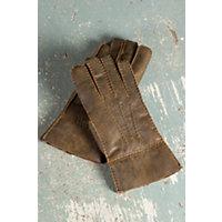 Men's Rugged Shearling Sheepskin Gloves, Rugged Whiskey, Size Medium (8.5 9) Western & Country