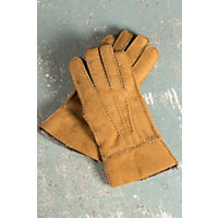 Men's Rugged Shearling Sheepskin Gloves, Suede Gold, Size Xlarge (10.5-11) Western & Country