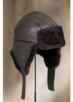 Shearling Sheepskin Aviator Hat