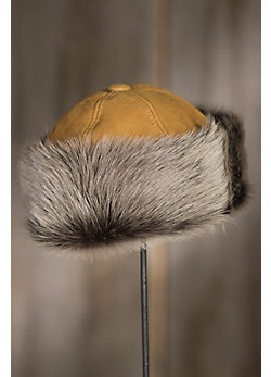 Siberia Round Merino Sheepskin Hat with Toscana Trim