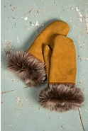 Women's Shearling Sheepskin Mittens with Toscana Trim